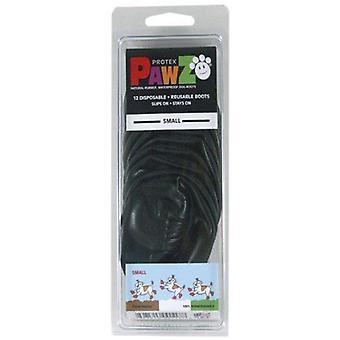Pawz الطبيعية القابلة لإعادة الاستخدام أحذية الكلب القابلة لإعادة الاستخدام - أسود صغير