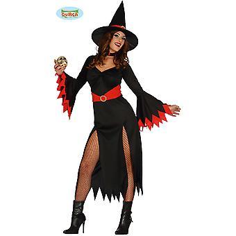 Kobiety stroje Ładna czarownica kostium z czerwonymi elementami