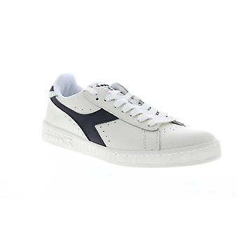 Diadora Game L Low  Mens White Leather Low Top Sneakers Shoes