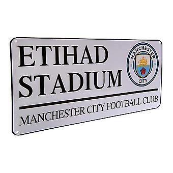 Manchester City FC Official Football Metal Street Sign