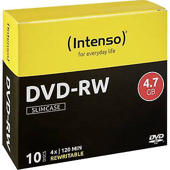 Intenso 4201632 tom DVD-RW 4,7 GB 10 PC (er) slank veske overskrivbar