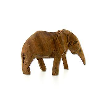 Handmade Wooden Elephant Sculpture Ornament – 7 cm
