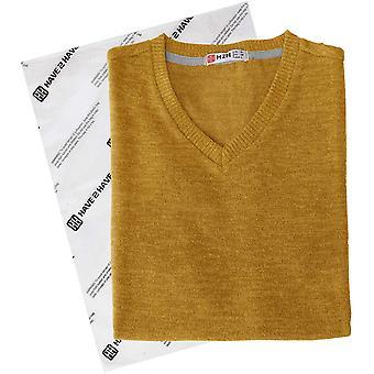 H2H Mens Quarter Zip Long Sleeve Knit Sweater Mustard US XL/Asia 2XL (CMOSWL0...