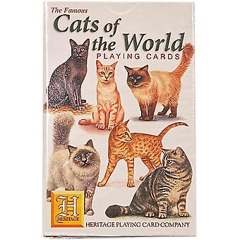 Cats of the World by Heritage Playing Cards