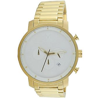 MVMT Men's Watch Wristwatch Chronograph White / Gold MC01-GC