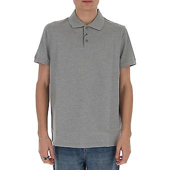 Saint Laurent 554052yb2oc1403 Men's Grey Cotton Polo Shirt