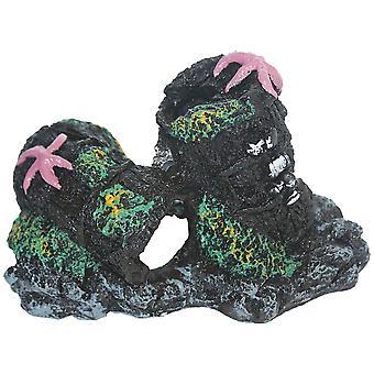 ICA Ornamentti 2 tynnyriä (kala, sisustus, kiviä & Caves)