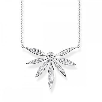 Thomas Sabo Magic Garden Silver & White Zirconia Large Leaves Necklace