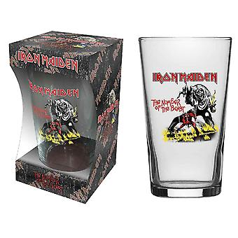 Iron Maiden Pint numărul de sticlă a Logo-ul Beast Band nou Oficial Boxed