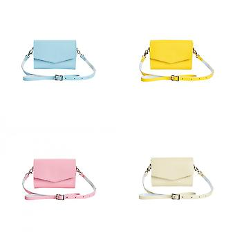 Zatchels Womens/Ladies Handcrafted Pastel Leather Mag Dots Micro Clutch Bag (British Made)