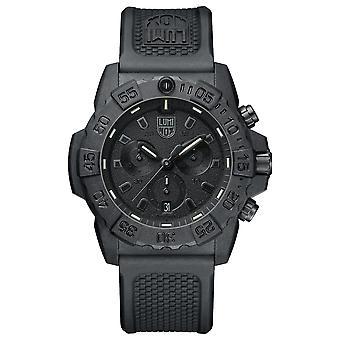 Luminox Navy SEAL chronograaf 3580 serie Blackout heren horloge XS.3581.BO