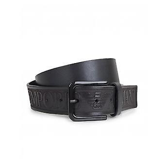 Armani Belts Leather Script Logo Belt