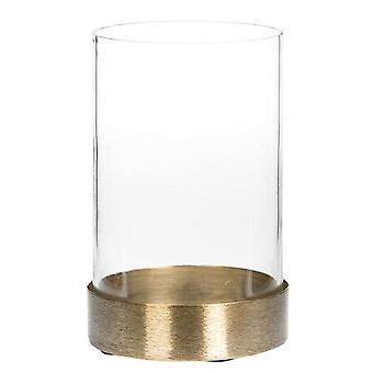 Glass lantern Brushed brass 15 cm