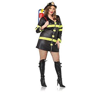 Brann Kvinne Pluss Størrelse Kostyme