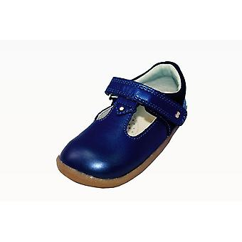 Bobux step up louise navy shimmer t-bar shoes