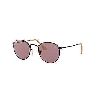Ray-Ban Round Metal RB3447 9066Z0 Black/Violet Photochromic Sunglasses
