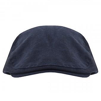 Ted Baker Carbz marineblå flat cap
