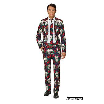 Mister Skull Skull Day of the Dead Colorful SuitMaster Slimline Economy 3-piece