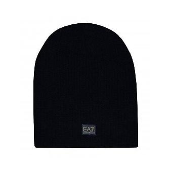 EA7 Emporio Armani Men's Black Knitted Beanie Hat
