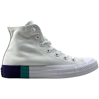 Converse Chuck Taylor All STAR HI White/Aqua-Purple 159519c Men's