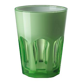 Mario Luca Giusti Set of 6 Double Face Plastic Cups Green