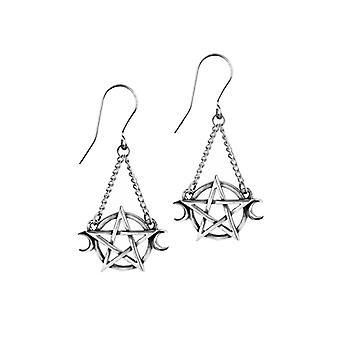 Alchemy Goddess Pewter Earrings