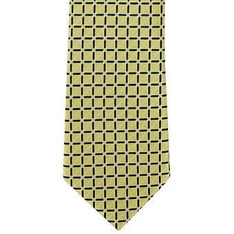 Michelsons di Londra grata verifica poliestere cravatta - giallo