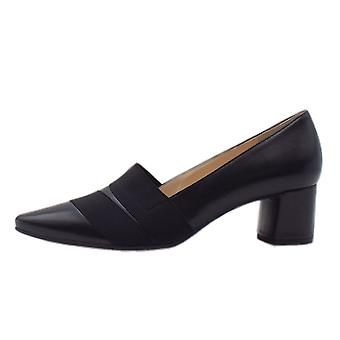 Högl 8-10 4540 Lady Hl Stylish Pointed Toe Court Shoes In Black