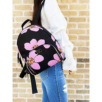 Kate spade dawn grand flora bradley backpack black pink floral