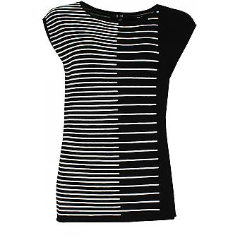 Yest Black & White Knit Top