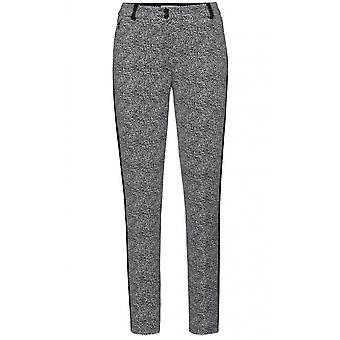 Bianca Black & White Patterned Trousers