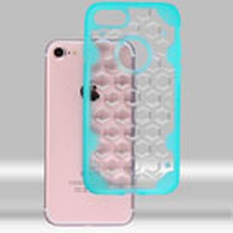 Asmyna  Chali-Honeycomb Hybrid Case for iPhone SE2/8/7 - Clear/Transparent Light Blue
