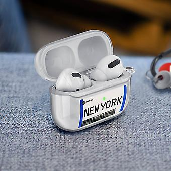 Coque AirPods Pro Design Billet New York Anti-rayure Mousqueton Transparent