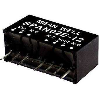 Mean Well SPAN02A-12 DC/DC converter (module) 167 mA 2 W No. of outputs: 1 x