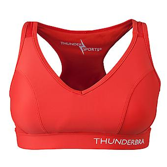 Thunder Sports Jooga Pilates Hyvät ThunderBra Active Medium (Cup C-D) Punainen