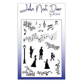 John Next Door Clear Stamps – Christmas Music