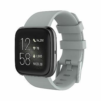 """Bracelet de bande en silicone de sangle de remplacement pour Fitbit Versa 2/Versa Lite/Versa[Large Fits Wrist 7.1"""" - 8.7"""",Grey]"""