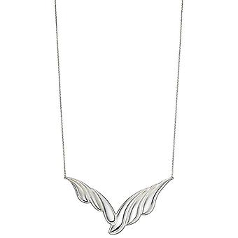 Elements Silver Overlapping Curve Necklace - Silver