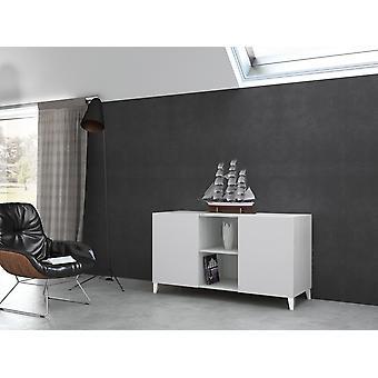 Mobile Linea 1 Color Bianco in Truciolare, Plastica, Ferro 140x51,5x77 cm