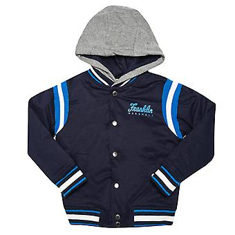 Boy's Franklin And Marshall Infant Varsity Jacket in Blue