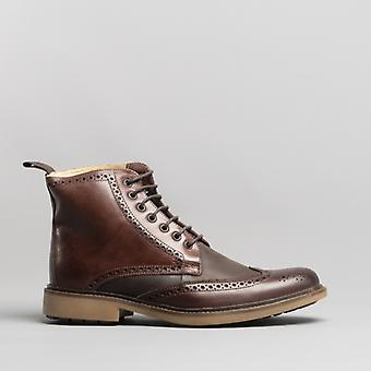 Anatomic & Co. Antonio Mens Leather Ankle Boots Burgundy/brown