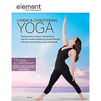 Element: Cardio luftkonditionering Yoga [DVD] USA import