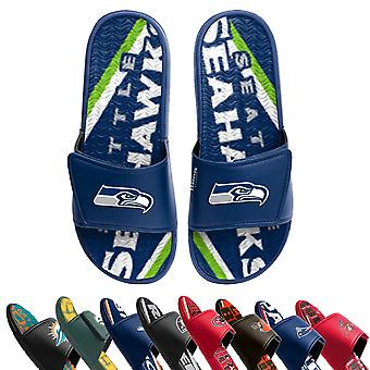 FOCO Men's Swimsuits NFL GEL Sport Slides, Many Teams