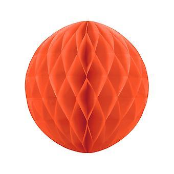 40cm Orange mjukpapper Honeycomb Ball Bröllopsfest Dekoration
