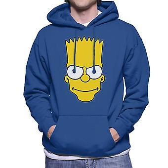 The Simpsons Bart Face Men's Hooded Sweatshirt