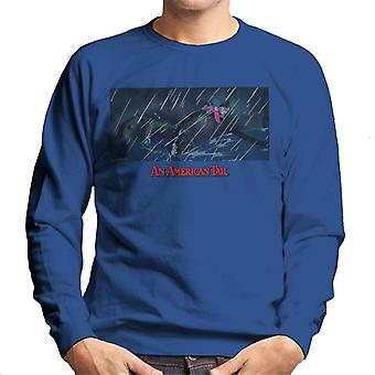 Una cola americana Fievel holding On Men's Sweatshirt