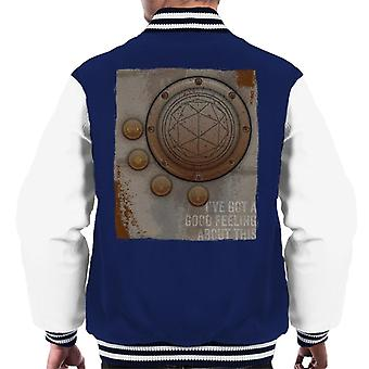 The Crystal Maze Second Good Feeling Rust Panel Men's Varsity Jacket