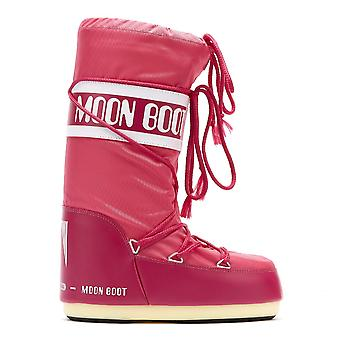 Moon Boot Classic Icon Womens Bougainvillea Nylon Boots