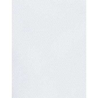 """BUTTONED DOWN Men's Tailored Fit Spread-Collar Solid Non-Iron Dress Shirt (No Pocket), White, 17.5"""" Neck 37"""" Sleeve"""