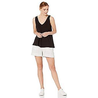 العلامة التجارية - طقوس اليومية المرأة & s سوبر سوفت تيري الخامس الرقبة دبابة, أسود, X-الصغيرة